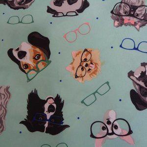 Cynthia Rowley Dogs Eye Glasses Round Tablecloth